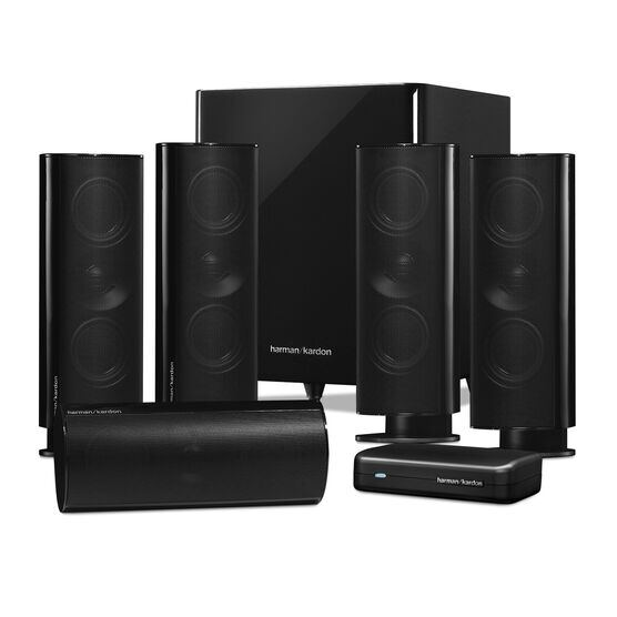 HKTS 65 - Black - A 5.1-channel, home theater speaker system with wireless subwoofer - Detailshot 1