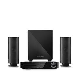 BDS 485S - Black - 2.1-channel, 330-watt, 4K upscaling Blu-ray Disc™ System with Spotify Connect, AirPlay and Bluetooth® technology. - Hero