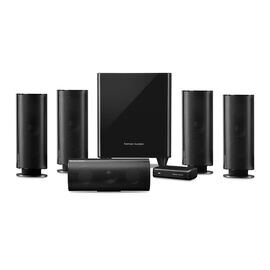HKTS 65 - Black - A 5.1-channel, home theater speaker system with wireless subwoofer - Hero