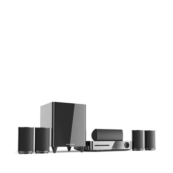 BDS 635 - Black - 5.1-channel, 350-watt, 4K upscaling 3D Blu-ray Disc™ System with Wi-Fi® and Bluetooth® technology - Hero