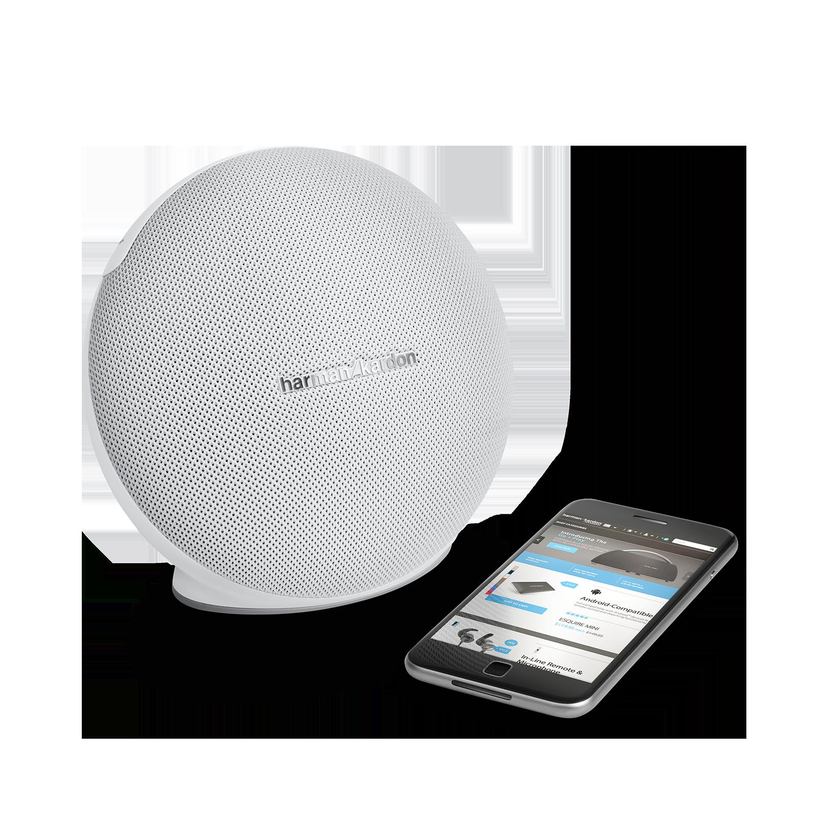 Onyx Mini - White - Portable Bluetooth Speaker - Detailshot 1