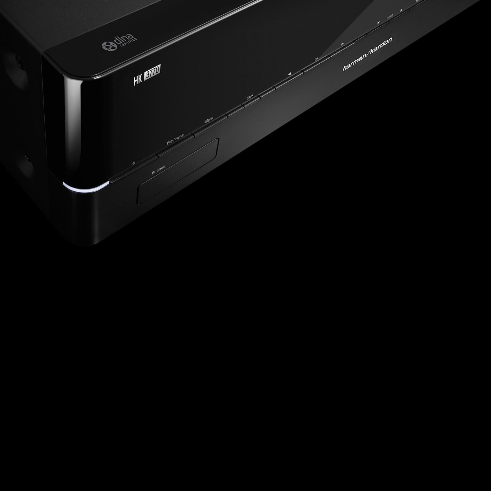HK 3770 - Black - 240 watt stereo receiver with network connectivity - Detailshot 2
