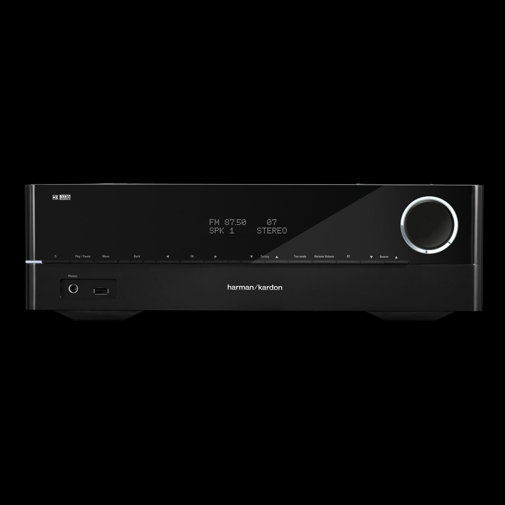 HK 3770 - Black - 240 watt stereo receiver with network connectivity - Hero