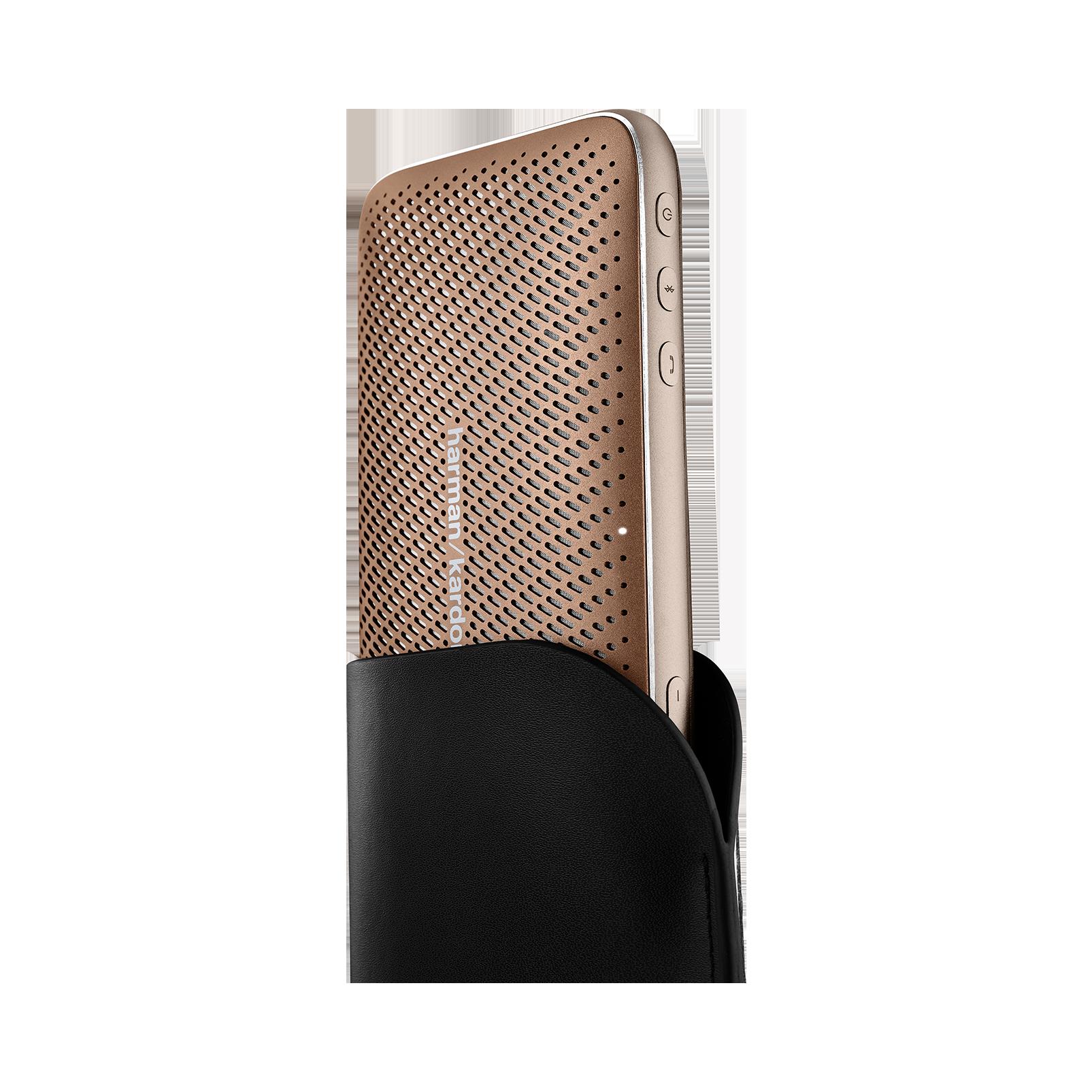 Harman Kardon Esquire Mini 2 - Brown - Ultra-slim and portable premium Bluetooth Speaker - Detailshot 1