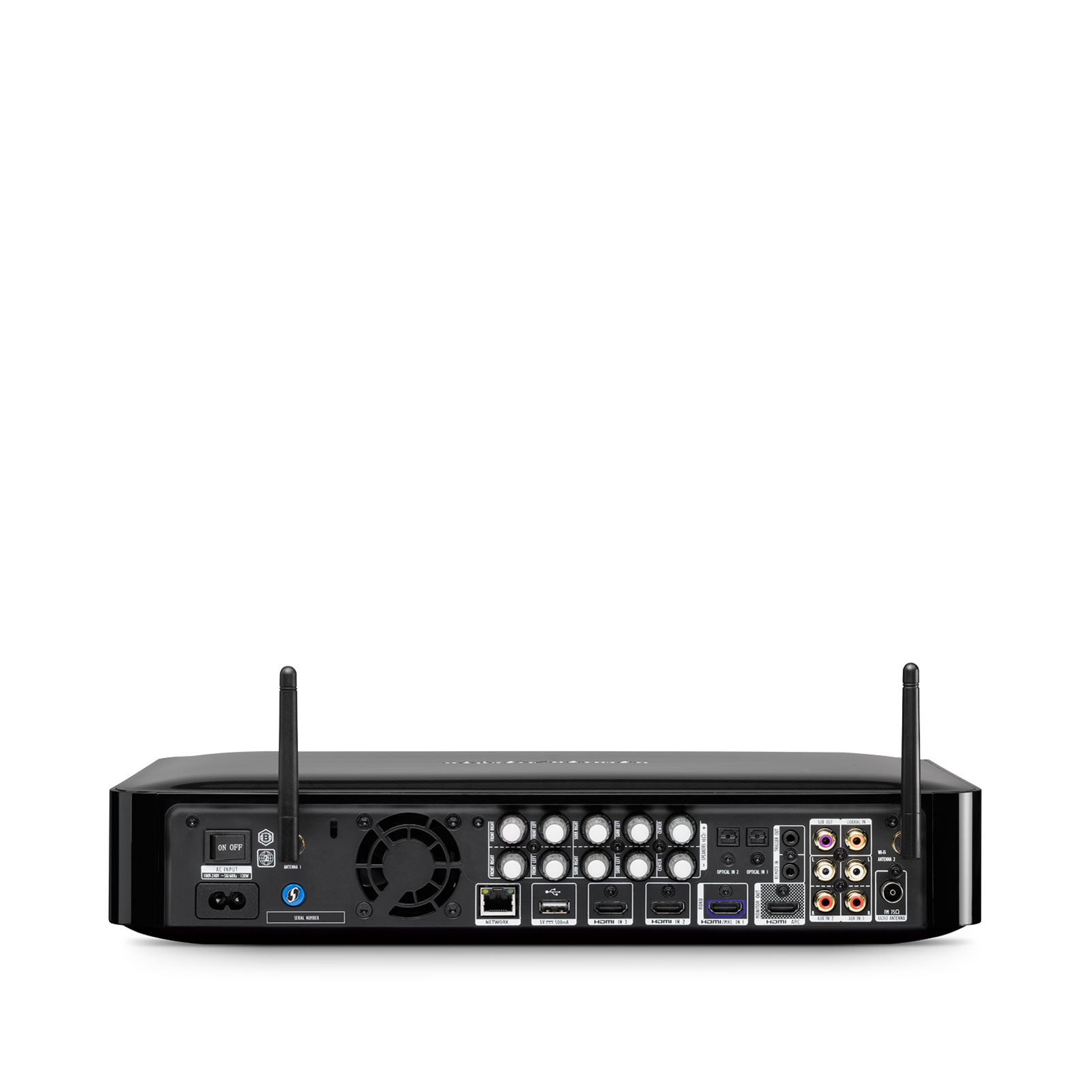 BDS 685S - Black - 5.1-channel, 525-watt, 4K upscaling Blu-ray Disc™ System with Spotify Connect, AirPlay and Bluetooth® technology. - Back