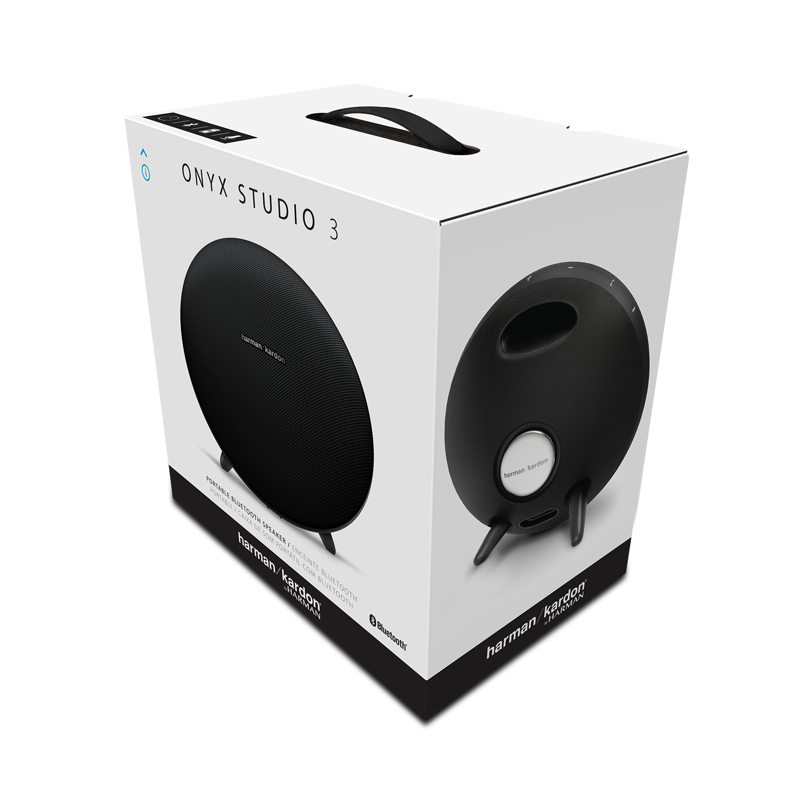 Onyx Studio 3 High End Portable Bluetooth Speaker Harman Kardon Go Play Mini Black Spec Sheet En